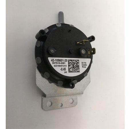 42-24335-09S - OEM Rheem Upgraded Replacement Furnace Pressure Air Switch .45 ()