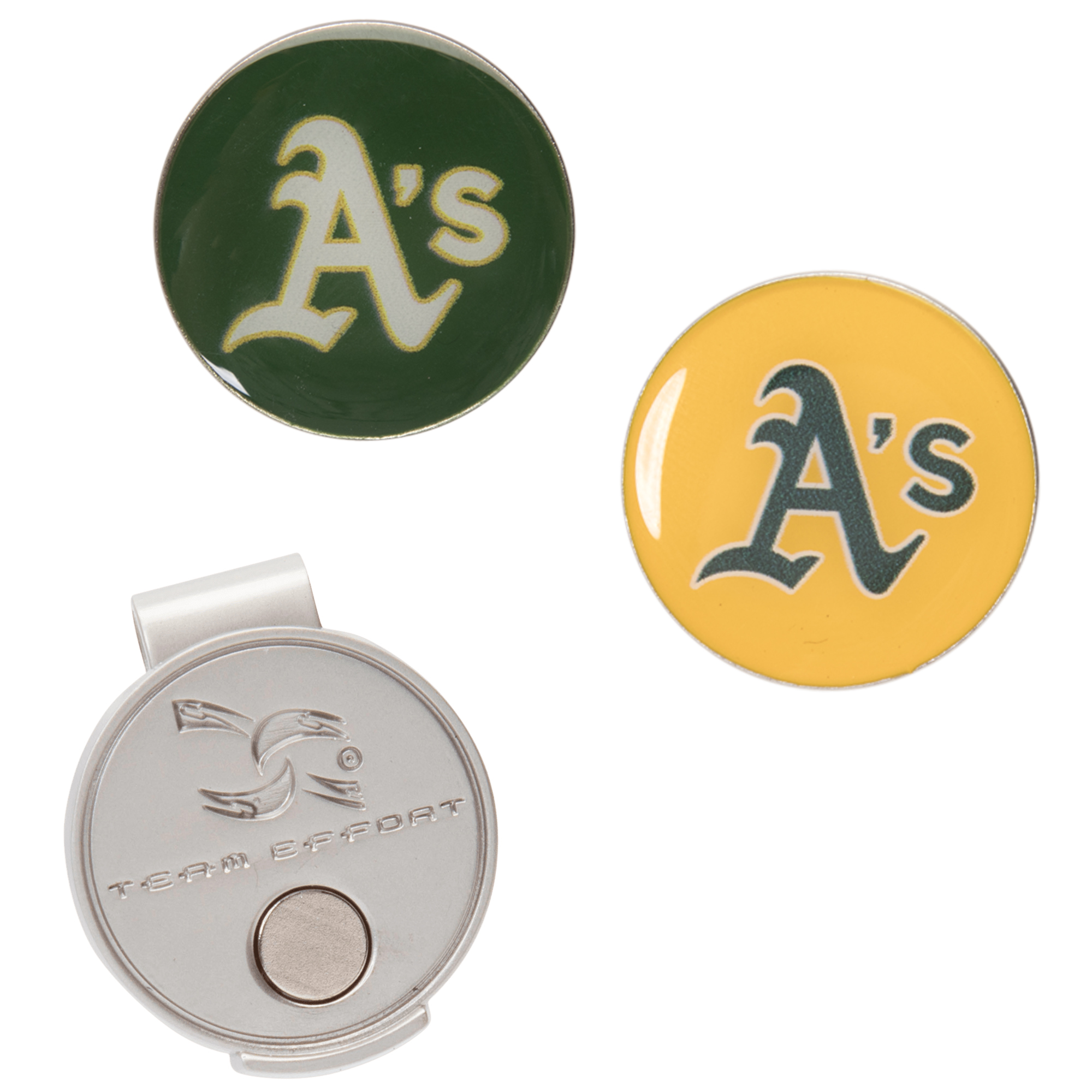 Oakland Athletics Hat Clip & Ball Markers Set - No Size