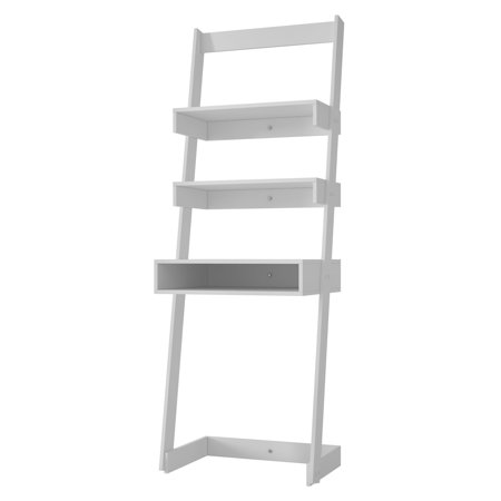 Ladder Bookcase Desk (Manhattan Comfort Carpina Ladder Desk Bookcase )