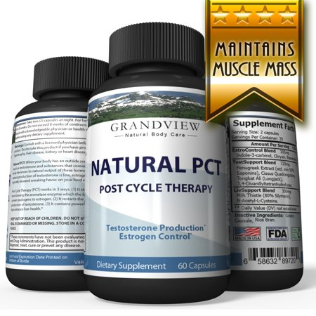 Natural PCT-Post Cycle Therapy - Kickstarts Natural Testosterone Production Restores Normal Hormone Levels Helps Maintain Muscle Mass Support Healthy Liver (Best Testosterone Stack Cycle)