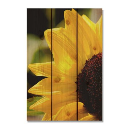 DayDream HQ Yellow Sunflower -16x24 Indoor/Outdoor Full Color Cedar ...