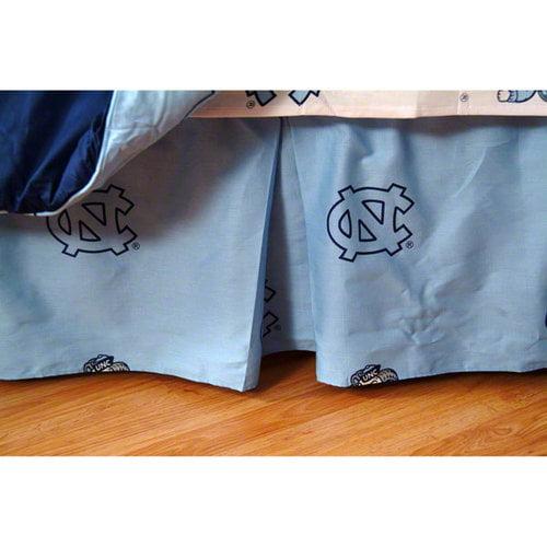NCAA - North Carolina Tar Heels Printed Bedskirt- Queen Bed