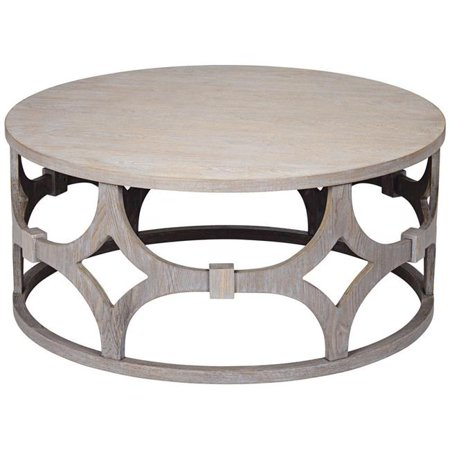 18 X 39 In Lanini Gray Wash Round Coffee Table