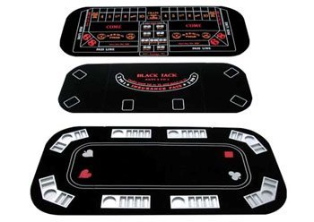 Brybelly 3-in-1 Texas Hold'em Poker, Craps, Blackjack Folding Gaming Tabletop by Brybelly