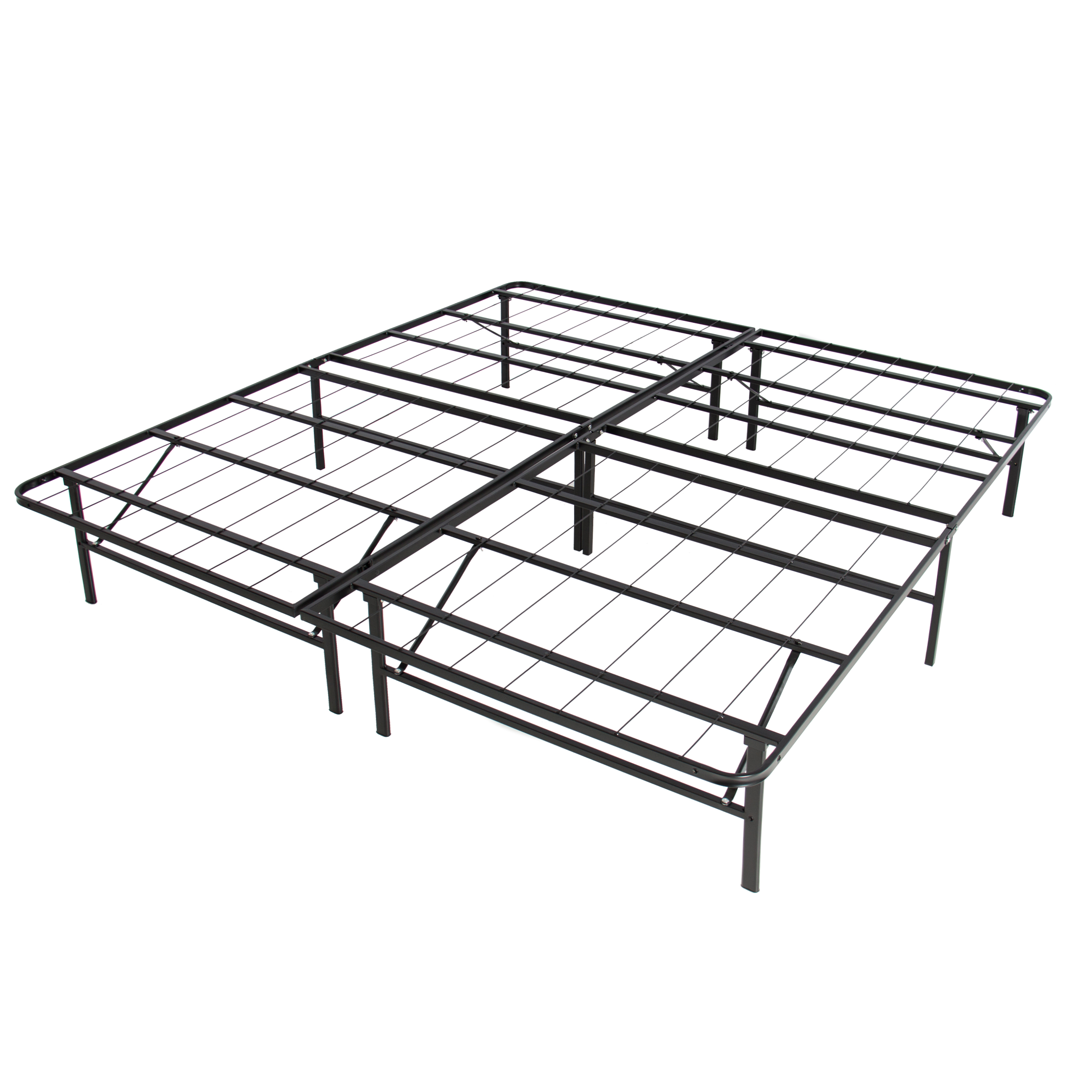 best choice products platform metal bed frame foldable no box spring I Beam Mounting best choice products platform metal bed frame foldable no box spring needed mattress foundation queen walmart