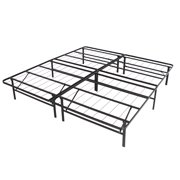 platform metal bed frame foldable no box spring needed mattress foundation queen image 2 of 6 - Platform Metal Bed Frame