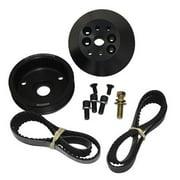 KRC Power Steering Aluminum SBC Serpentine Pro-Series Pulley Kit P/N 36403000