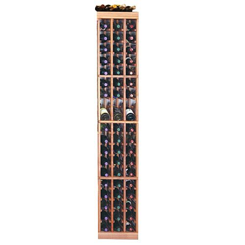 Designer Series 57-Bottle 3-Column Wine Rack with Display Row