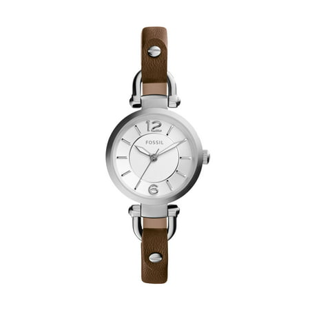 Fossil Women's Georgia Brown Leather Strap Watch (Style: ES3861) ()