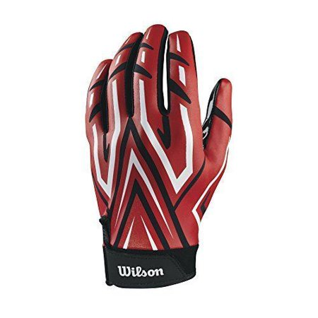 Wilson The Clutch Skill American Football Receiver Glove - Adult Red Large
