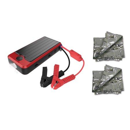 Powerall Supreme 16 000mah Car Jump Starter Kit With 2 Emergency