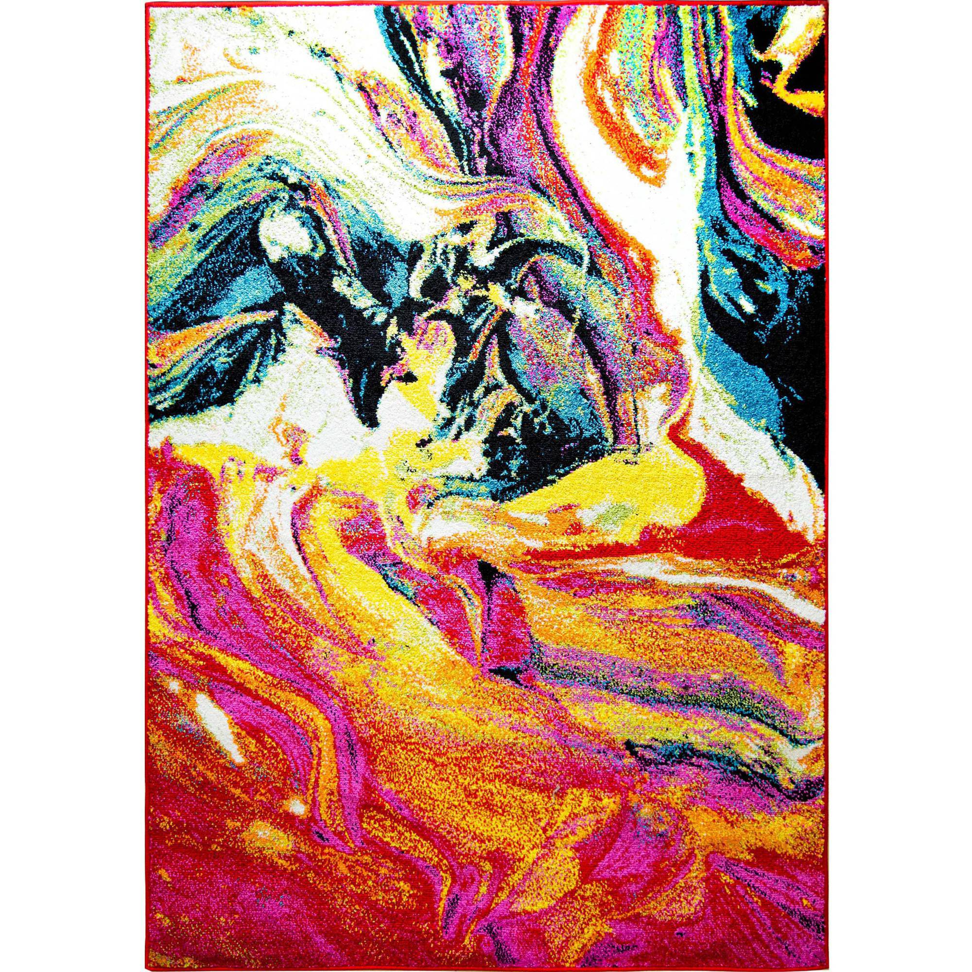 Home Dynamix Splash Modern Abstract Watercolors Area Rug