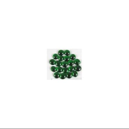 Emerald Glass Gaming Stones 20ct