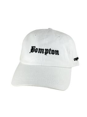 Retro NWA 3D Bompton Old English Hat Dad Cap - White Black 3858669cbdf1