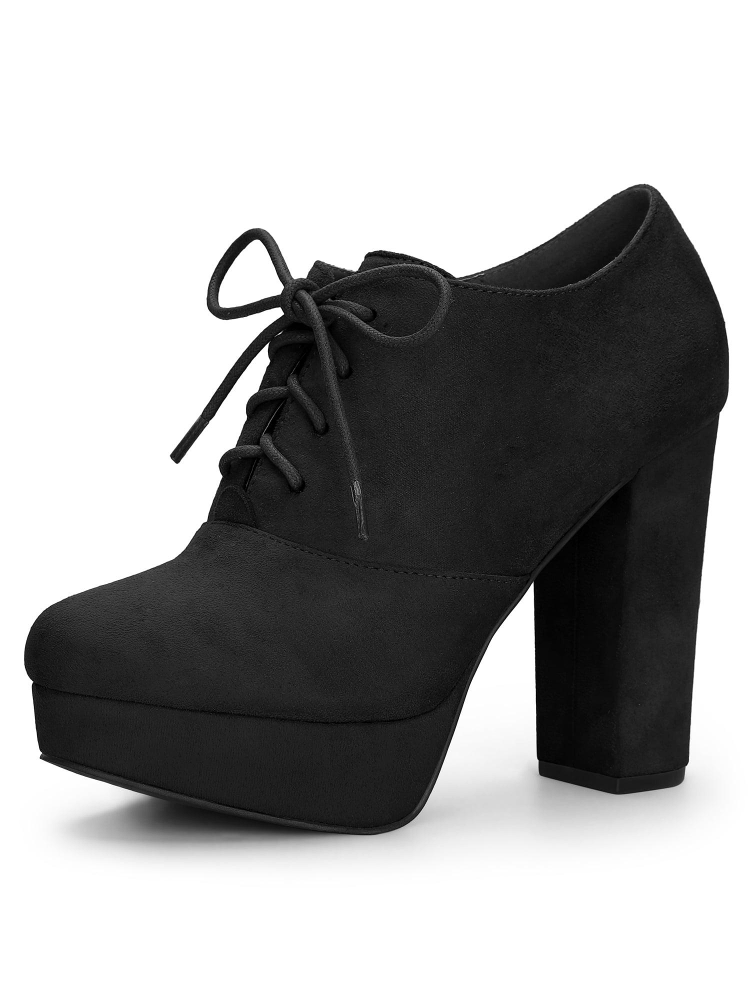 Women's Platform Chunky Heel Lace Up