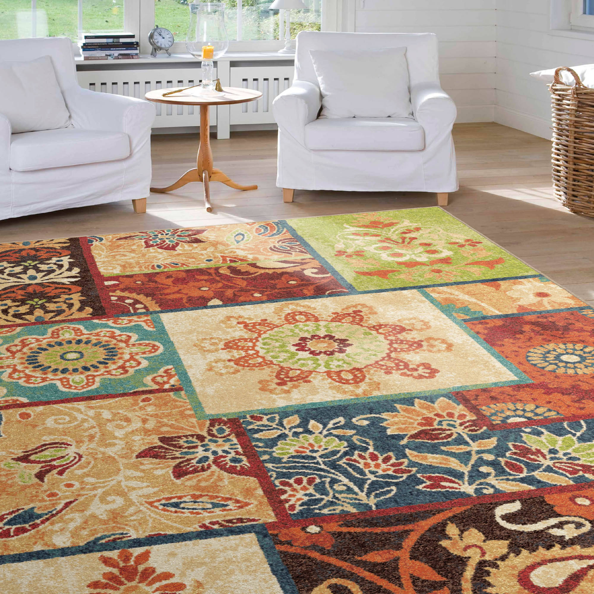 Orian Rugs Patchland Multi-Color Area Rug Available In Multiple Sizes