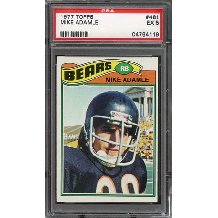 1977 Topps  481 Mike Adamle Chicago Bears Psa 5