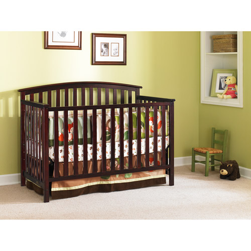 Graco - Freeport 4-in-1 Fixed-Side Convertible Crib, Classic Cherry