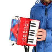 MIXFEER Kids Children 17-Key 8 Bass Mini Small Accordion Educational Musical Instrument Rhythm Band Toy