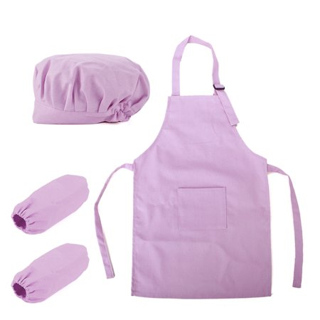 Opromo Colorful Cotton Canvas Kids Apron, Chef Hat and Oversleeve Set, Party Favors(S-XXL)-light - Party Chef Hats