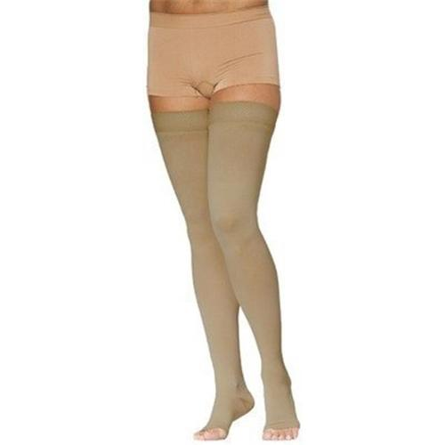 Sigvaris 232 Cotton Open Toe Thigh Highs w/Grip Top - 20-...