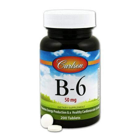 Vitamine B-6 50 mg Carlson Laboratories 200 Tabs