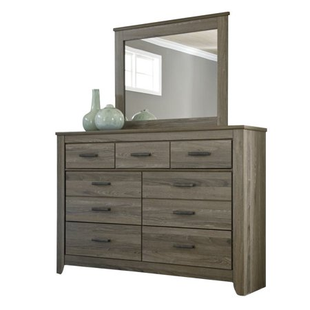 Ashley Zelen 2 Piece Wood Dresser Set In Brown Walmart Com