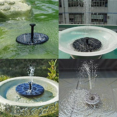 - Solar Power Fountain,Alisabler Solar Panel Water Floating Fountain Pump Kit for Bird Bath Fish Tank Small Pond Garden Decoration