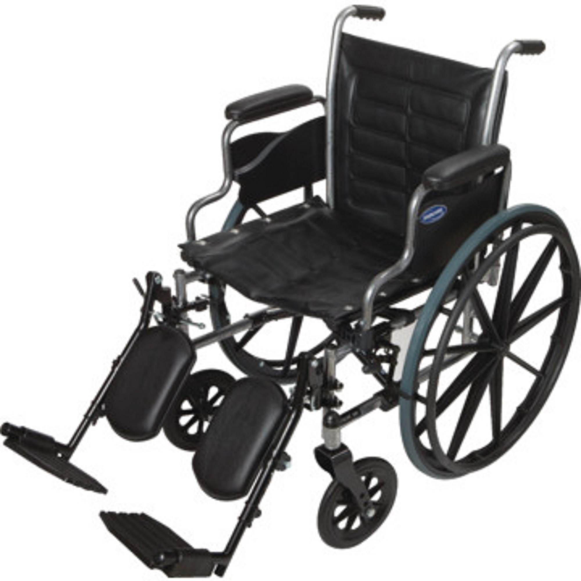 """Invacare - Tracer IV - Manual Wheelchair - Desk-Length Armrest with Elevating Legrest - 24"""" x 18"""" Seat - Silver Vein"""