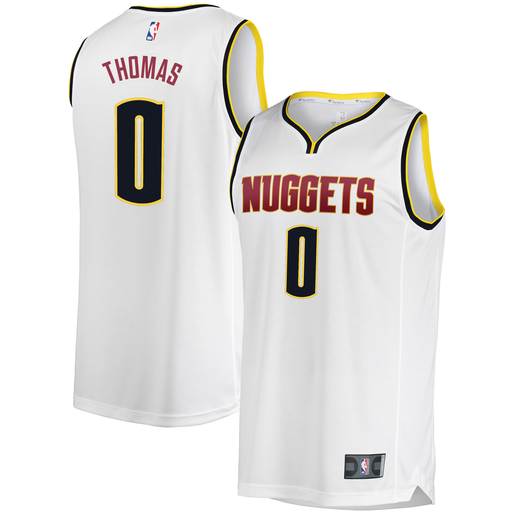 buy popular 4e880 e4544 Isaiah Thomas Denver Nuggets Fanatics Branded Fast Break Jersey -  Association Edition - White