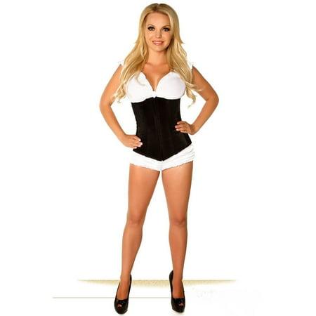 443dff87a7 Daisy Corsets Lavish Black Underbust Zipper Sexy Silk Burlesque Lingerie  2x-6x - image 1 ...
