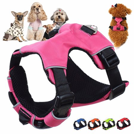 Denim Dog Harness Vest - S/M/L Breathable Mesh Small Dog Pet Safety Harness Vest Pet Dog Puppy Walking