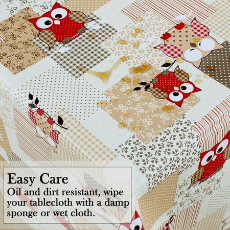 "Tablecloth PVC Rectangle Table Cover Oil Resistant Table Cloth 54"" x 71"", #4 - image 4 de 7"
