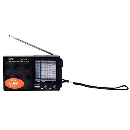 Qfx R 9Blk Am Fm Mw Sw1 7 Radio   Black