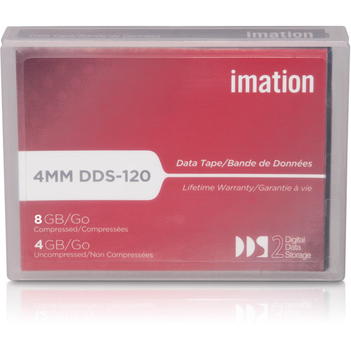 IMATION DAT 4mm DDS-2 120m 4/8GB Tape Cartridge-43347