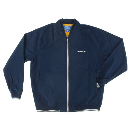- Adidas Mens Superstar FZ Woven Jacket Navy Blue XL