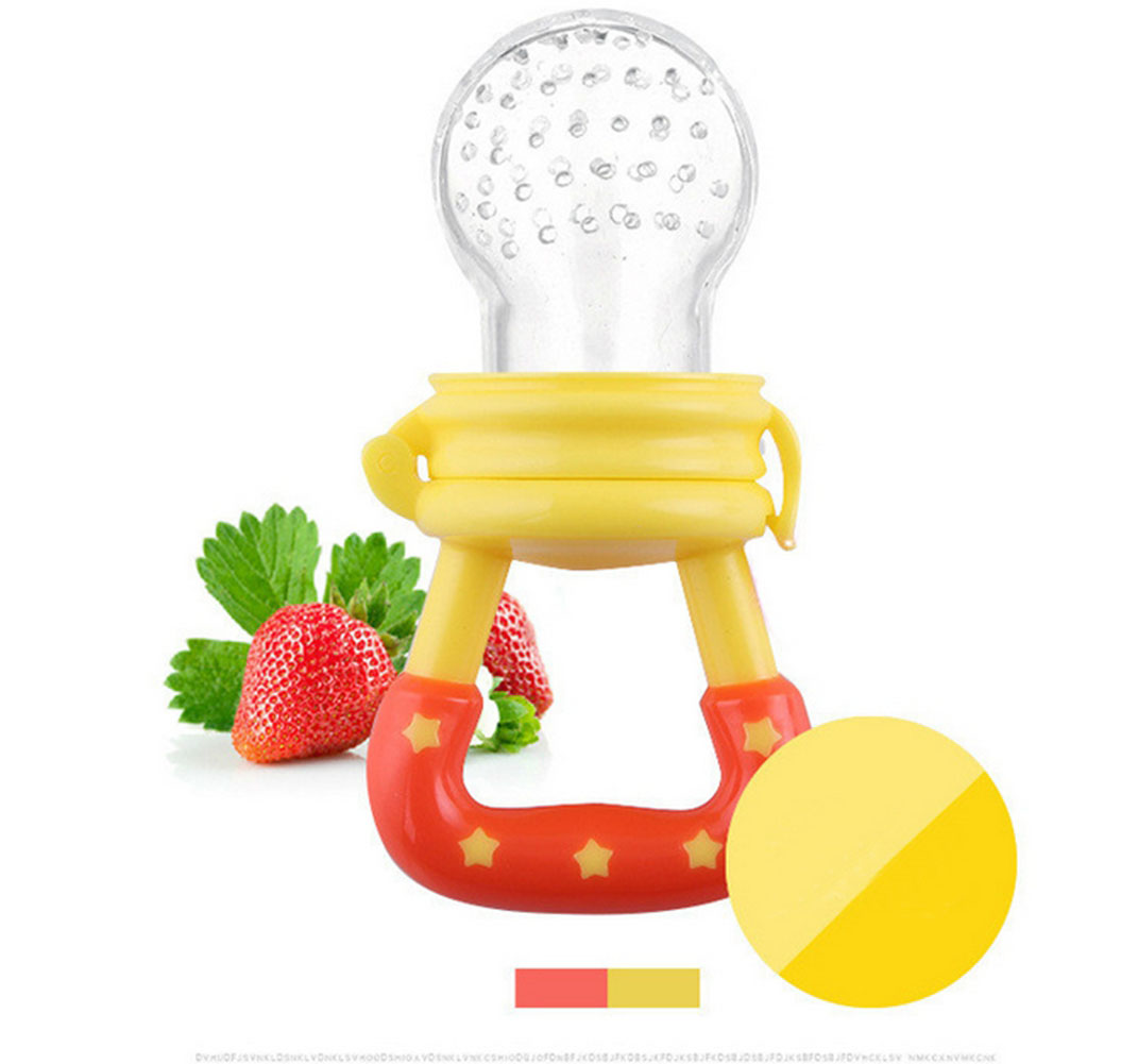 Baby Toys Fresh Food Feeder Silicone Teat Yellow L