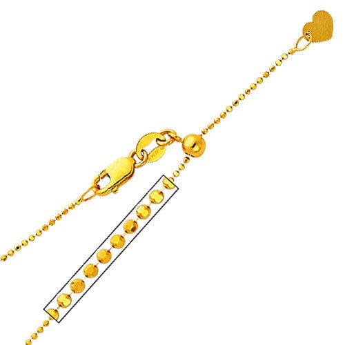 Precious Stars 14kt White Gold 0.9mm Ball Chain