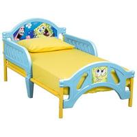 Delta Children SpongeBob SquarePants Plastic Toddler Bed, Yellow/Blue