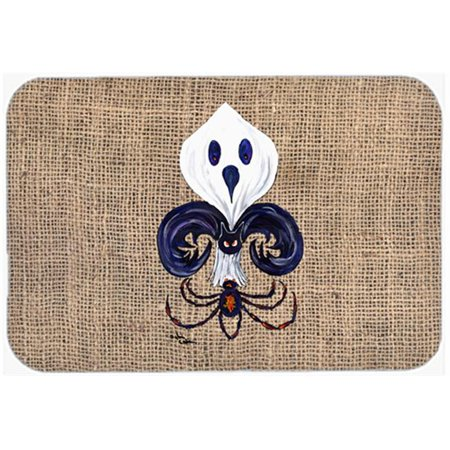 24 x 36 in. Halloween Ghost Spider Bat Fleur De Lis Kitchen Or Bath Mat