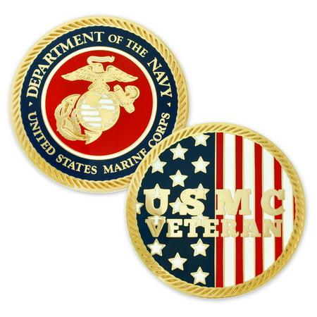 U.S. Marine Corps. Veteran Commemorative Challenge Coin ()