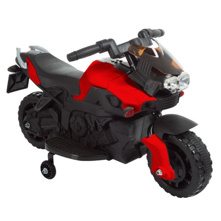 Ride on Toy, 2 Wheel Motorcycle with Training Wheels by Lil' Rider - Battery-Powered Ride-on Toy for Toddlers Boys and Girls 2-5 Years Old - Red ()