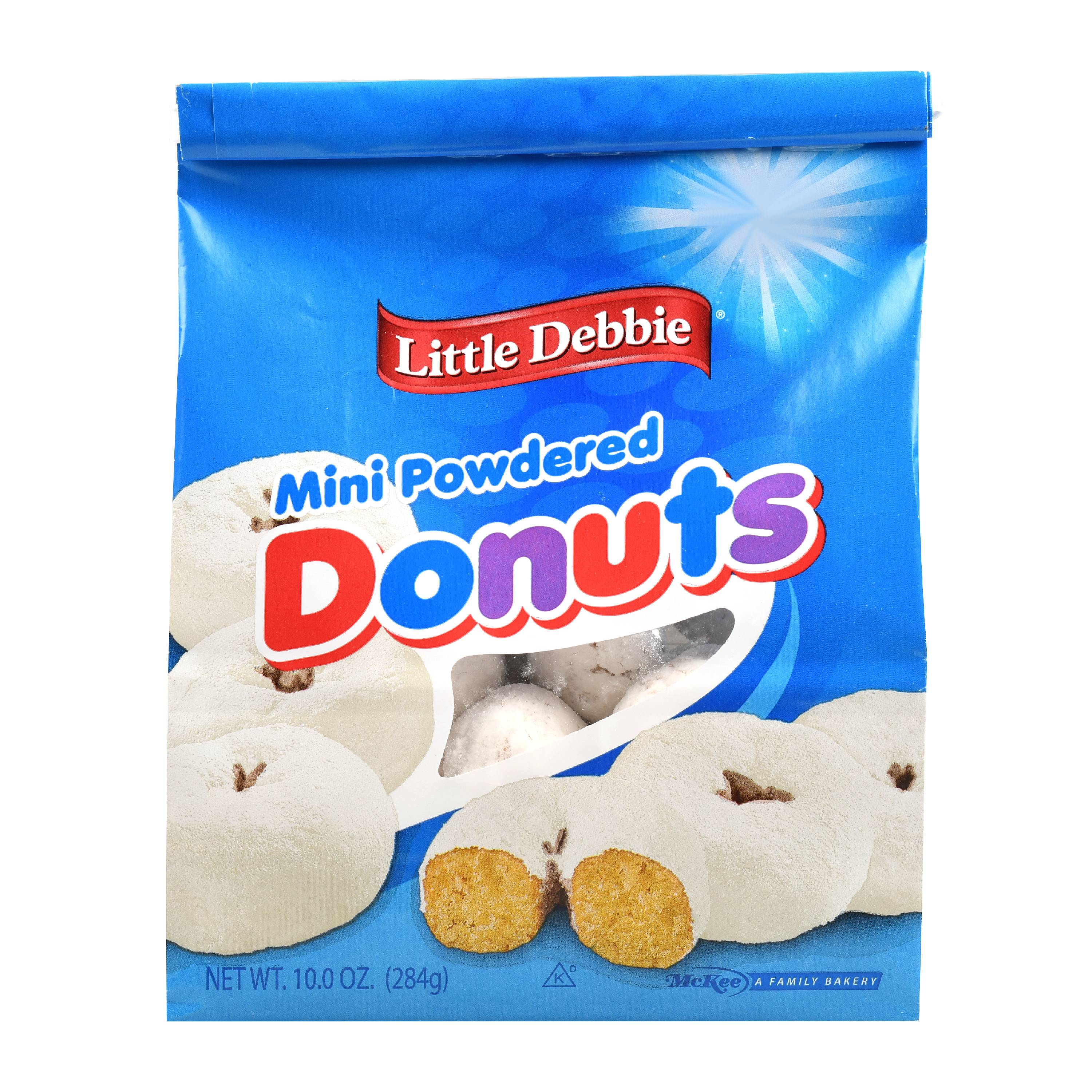 Little Debbie Snacks Mini Powdered Donuts, 10 oz