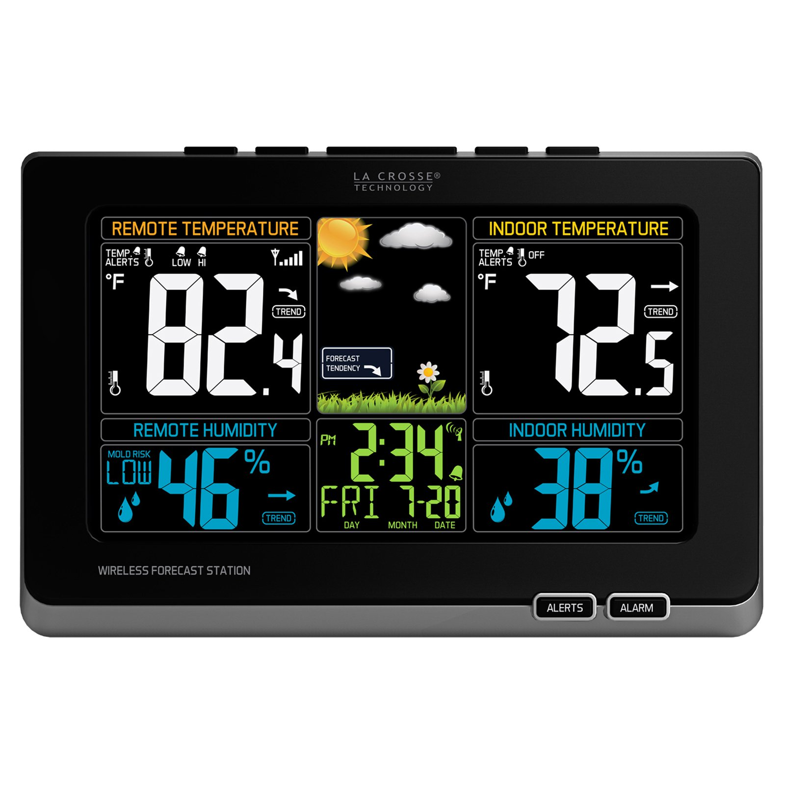 La Crosse 308-1414MB-INT Color Weather Station with In/Out Temperature, Humidity and Mold Indicator