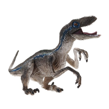 Jurassic Blue Velociraptor Raptor Dinosaur Model Toy Gift Moveable Jaw Arms