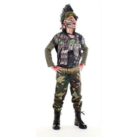 Costumes For All Occasions Pm721036 Sergeant Splatter Child 4-6