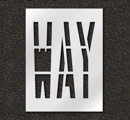 Pavement Stencil,Way,36 in RAE STL-116-73610