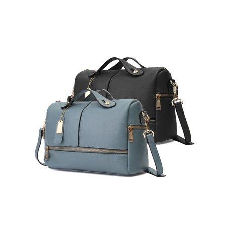 Metallic Boston Bag - New Women Fashion PU Leather Boston Pillow Handbag Shoulder Bags Totes Purse