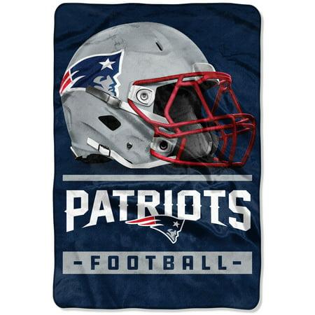 New England Patriots The Northwest Company 60'' x 80'' Sideline Oversized Micro Raschel Throw Blanket - Navy - OSFA Fleece New England Patriots Blanket