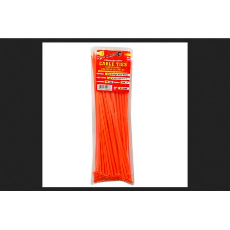 Tool City 11.8 in. L Orange Cable Tie 100 pk (L Orange The City Under The City)
